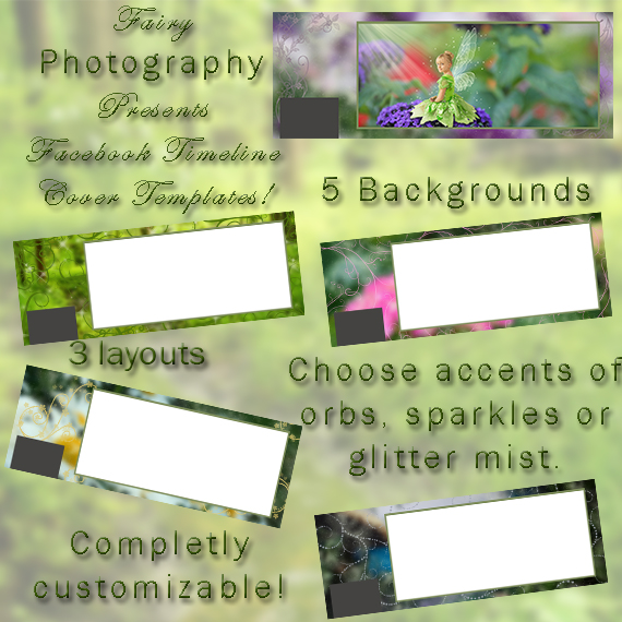 fairy tale book cover template - enchanted facebook timeline template psd set christy