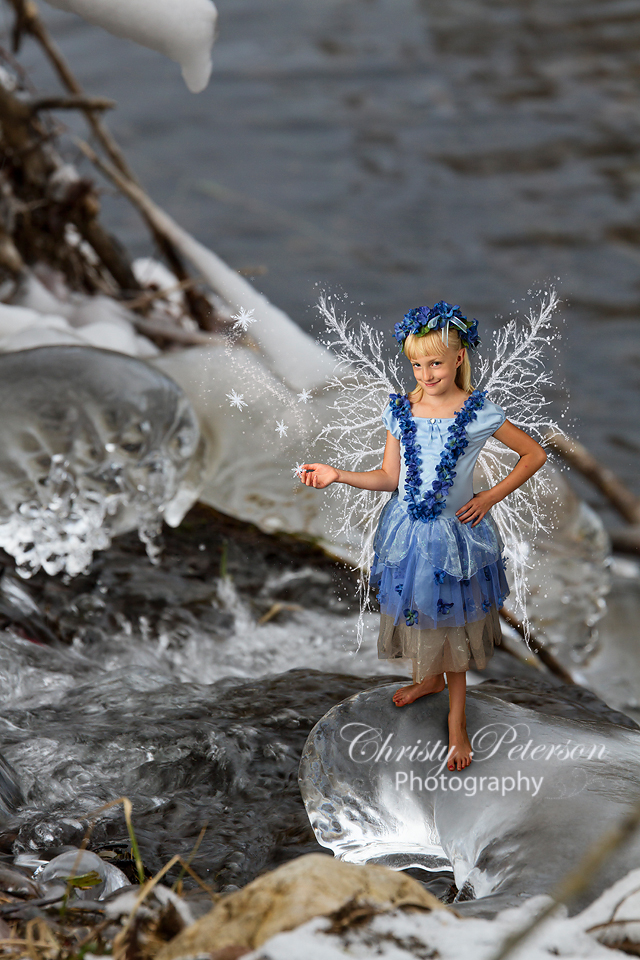 winter fairy snow frost wing png overlays