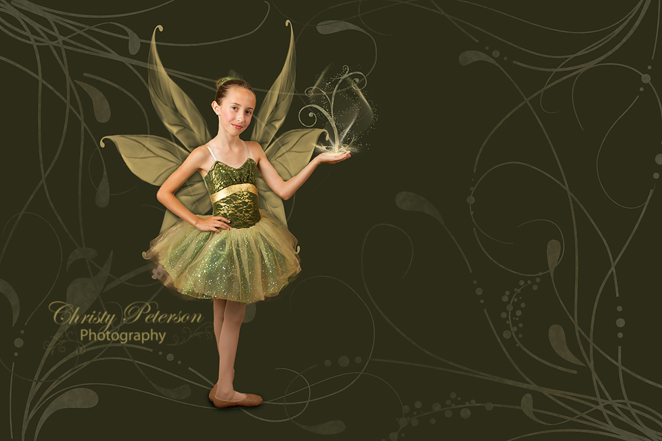 Earth or Garden Fairy Digital Background and Overlay Set ...