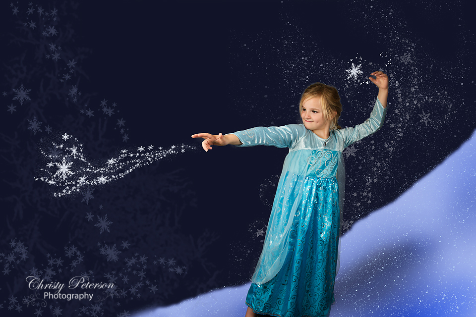 Winter Fairy Snow Or Frozen Inspired Digital Background
