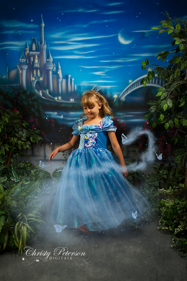 cinderella_digital_background_and_magical_mist_and_butterflies