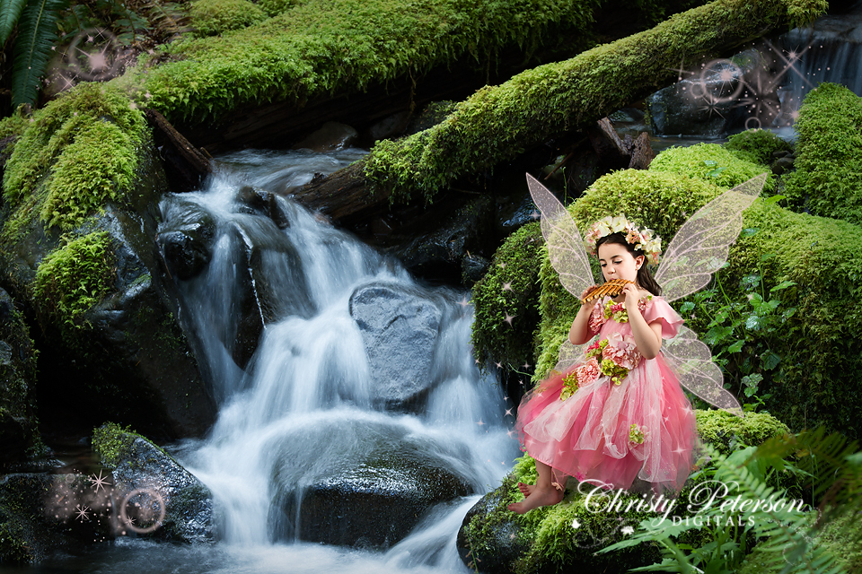 fairy_picture_with_a_waterfall_digital_background