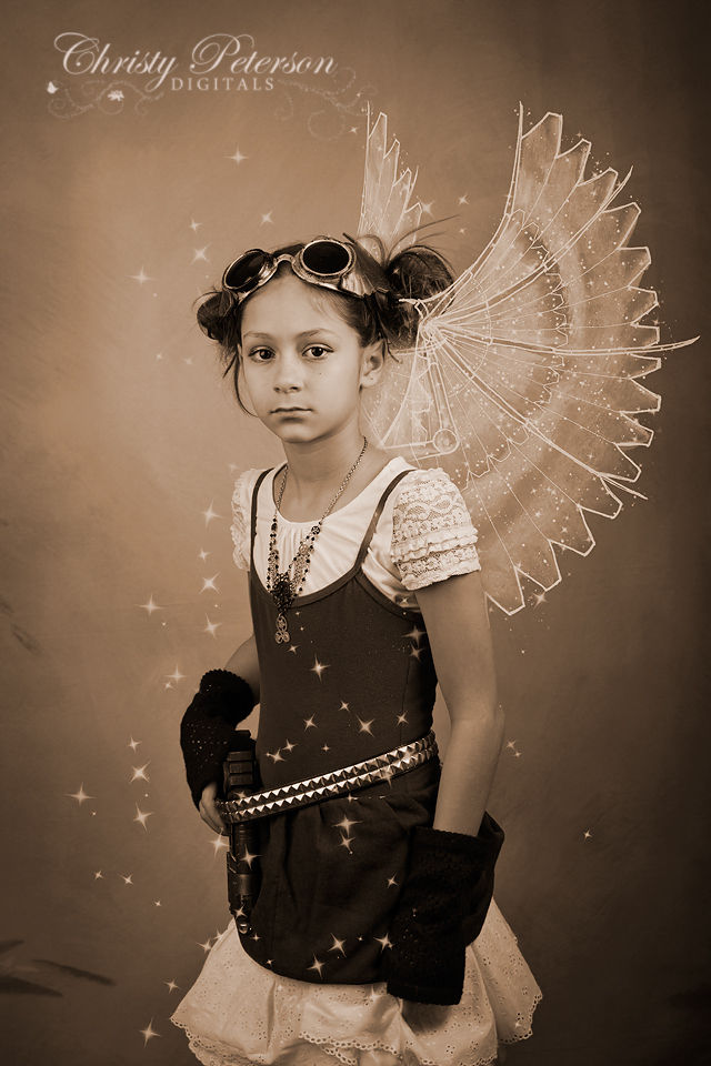 steampunk digital fairy wings