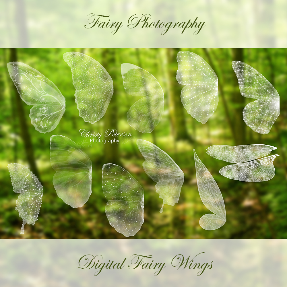 fairy wings png overlays set 1