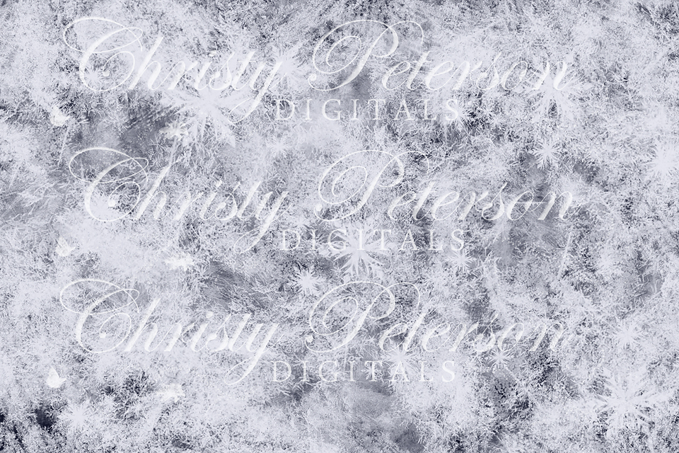 6 snow and frost digital png overlays